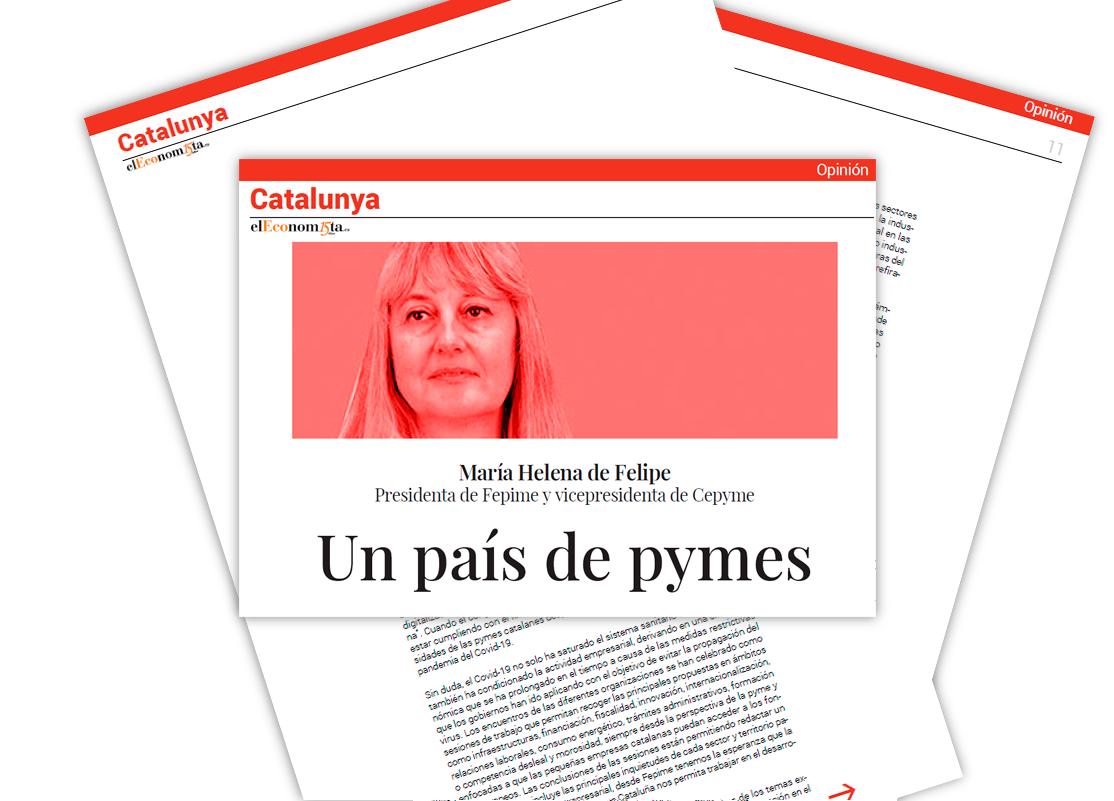 """""""Un país de pymes"""". Artículo de opinión de Maria Helena de Felipe en ElEconomista"""